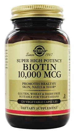 Solgar - Biotin Super High Potency 10000 mcg. - 120 Vegetarian Capsules