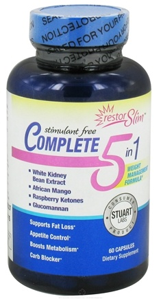 DROPPED: Stuart Consumer Product Labs - restorSLIM Stimulant Free Complete 5 in 1 - 60 Capsules CLEARANCE PRICED