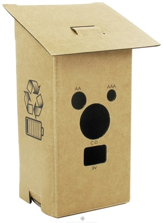 DROPPED: Kikkerland - Cardboard Battery House