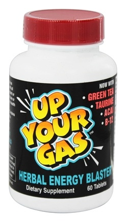 Hot Stuff Nutritionals - Up Your Gas Herbal Energy Blaster - 60 Tablets
