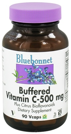 DROPPED: Bluebonnet Nutrition - Buffered Vitamin C 500 mg. - 90 Vegetarian Capsules CLEARANCE PRICED