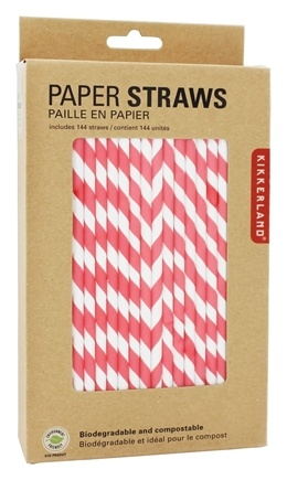 DROPPED: Kikkerland - Paper Straws Red - 144 Count
