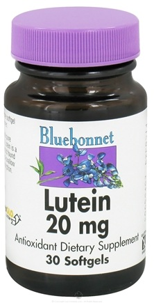 DROPPED: Bluebonnet Nutrition - Lutein 20 mg. - 30 Softgels CLEARANCE PRICED