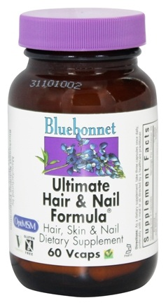 Bluebonnet Nutrition - Ultimate Hair & Nail Formula - 60 Vegetarian Capsules