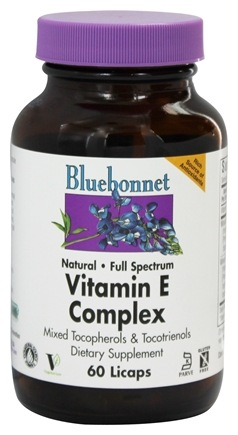 Bluebonnet Nutrition - Vitamin E Complex - 60 Liquid-Filled Capsules