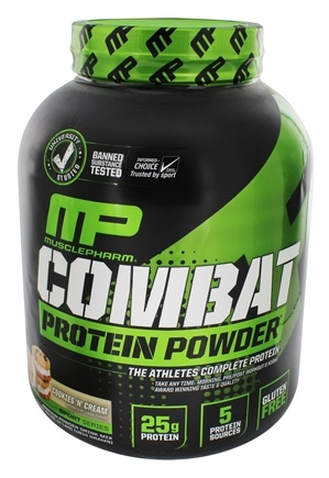 Muscle Pharm - Combat Advanced Time Release Protein Powder Cookies 'N Cream - 4 lbs.