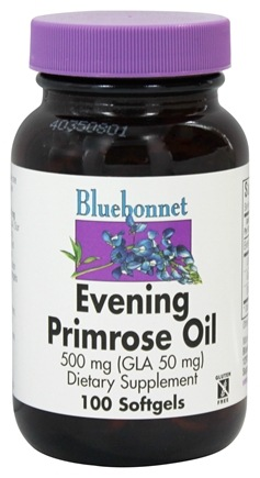 Bluebonnet Nutrition - Evening Primrose Oil (GLA 50 mg) 500 mg. - 100 Softgels