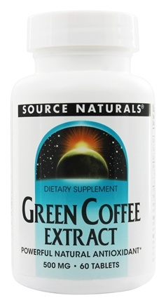 DROPPED: Source Naturals - Green Coffee Extract 500 mg. - 60 Tablets