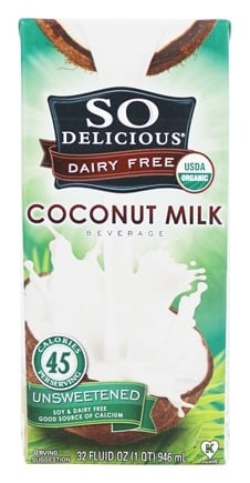 So Delicious - Dairy Free Coconut Milk Beverage Unsweetened - 32 oz.