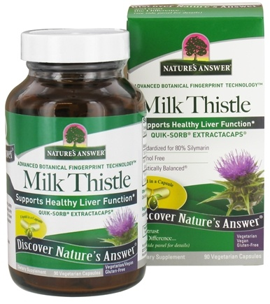 DROPPED: Nature's Answer - Milk Thistle Extractacaps - 90 Vegetarian Capsules CLEARANCE PRICED