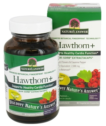 DROPPED: Nature's Answer - Hawthorn+ Quick-Sorb ExtractaCaps - 90 Vegetarian Capsules