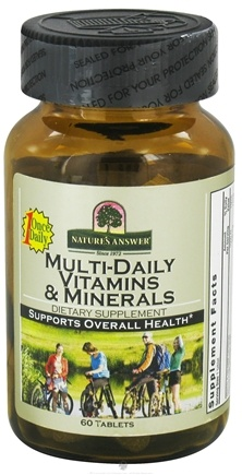 DROPPED: Nature's Answer - Multi-Daily Vitamins & Minerals - 60 Tablets