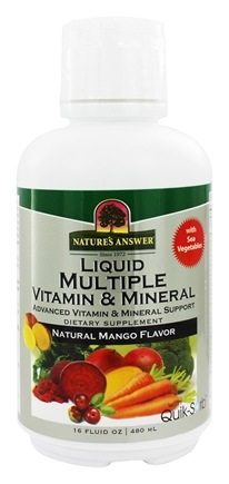 DROPPED: Nature's Answer - Liquid Multiple Vitamin & Mineral Natural Mango Flavor - 16 oz.