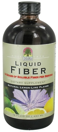 DROPPED: Nature's Answer - Liquid Fiber Natural Lemon-Lime Flavor - 16 oz. CLEARANCE PRICED
