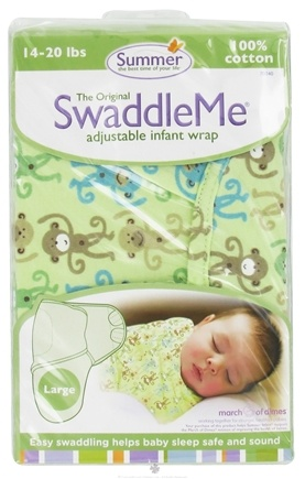 Zoom View - The Original SwaddleMe Adjustable Infant Wrap Large 14-20 Pounds