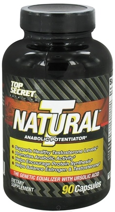 DROPPED: Top Secret Nutrition - Natural T Test Booster Anabolic Potentiator - 90 Capsules CLEARANCE PRICED