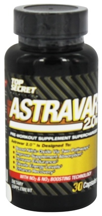 DROPPED: Top Secret Nutrition - Astravar 2.0 Pre-Workout Supplement SuperCharger - 30 Capsules CLEARANCE PRICED
