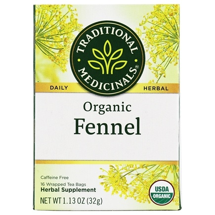 Traditional Medicinals - Organic Herbal Tea Fennel - 16 Tea Bags