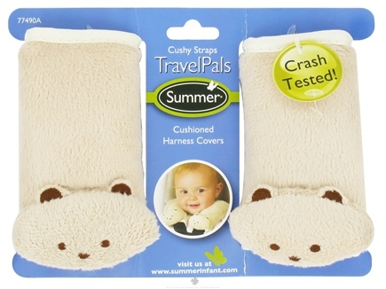DROPPED: Summer Infant - TravelPals Cushy Straps Cushioned Harness Covers Fawn Teddy Bears - CLEARANCE PRICED