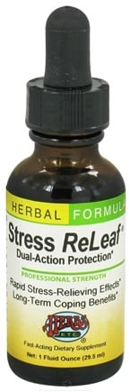 DROPPED: Herbs Etc - Stress ReLeaf Dual Action Protection - 1 oz. CLEARANCE PRICED