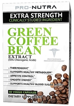 Buy Pro Nutra - Green Coffee Bean Extract - 60 Vegetarian Capsules at