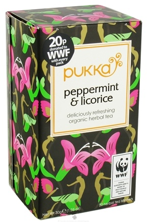 DROPPED: Pukka Herbs - Organic Herbal Tea Peppermint & Licorice - 20 Tea Bags