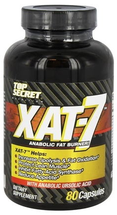 DROPPED: Top Secret Nutrition - XAT-7 Anabolic Fat Burner - 80 Capsules