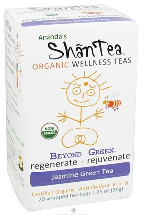 Zoom View - Organic Wellness Teas Beyond Green Jasmine Green Tea Anti-Oxidant Rich