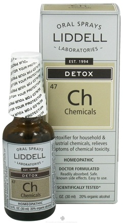 DROPPED: Liddell Laboratories - Detox Chemicals Homeopathic Oral Spray - 1 oz. CLEARANCE PRICED
