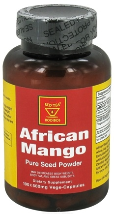 DROPPED: African Red Tea Imports - African Mango Pure Seed Powder 500 mg. - 100 Vegetarian Capsules