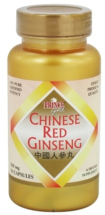 DROPPED: Prince of Peace - Chinese Red Ginseng 500 mg. - 50 Capsules CLEARANCE PRICED