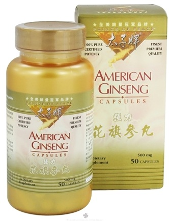 DROPPED: Prince of Peace - American Ginseng 500 mg. - 50 Capsules