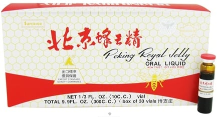 DROPPED: Superior Trading Company - Peking Royal Jelly Oral Liquid - 30 x 10 cc Vials - CLEARANCE PRICED