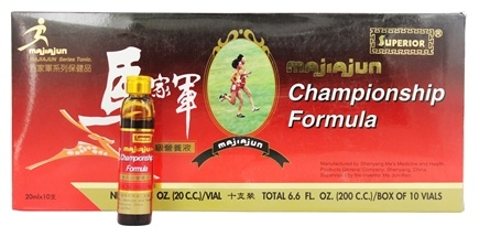 DROPPED: Superior Trading Company - Majiajun Championship Formula Oral Liquid - 10 x 20 cc Vials - CLEARANCE PRICED