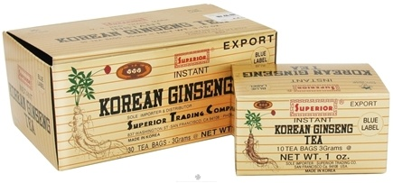 DROPPED: Superior Trading Company - Instant Korean Ginseng Tea - 30 Tea Bags