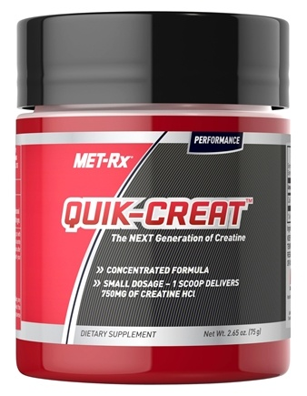 DROPPED: MET-Rx - Quik-Crete Powder Creatine HCl 750 mg. - 2.65 oz.