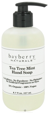 DROPPED: Bayberry Naturals - Hand Soap Tea Tree Mint - 8.7 oz. CLEARANCED PRICED