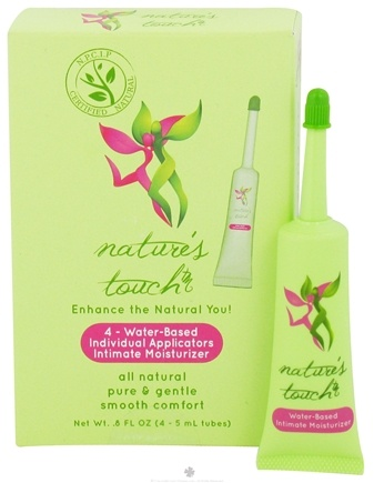 DROPPED: Nature's Touch - Intimate Moisturizer Water-Based Individual Applicators - 4 x 5 ml Tubes CLEARANCE PRICED