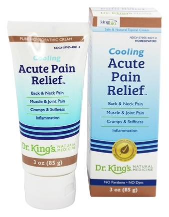 King Bio - Cooling Acute Pain Relief Homeopathic Cream - 3 oz.