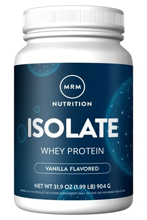 MRM - 100% All Natural Whey Protein Isolate French Vanilla - 1.99 lbs.