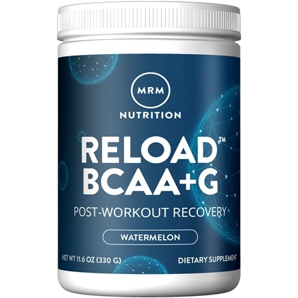 MRM - BCAA Powder Reload Natural Post-Workout Recovery Watermelon - 11.6 oz.