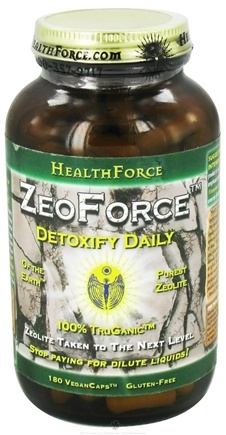 DROPPED: HealthForce Nutritionals - ZeoForce Zeolite Detoxify Daily - 180 Vegetarian Capsules