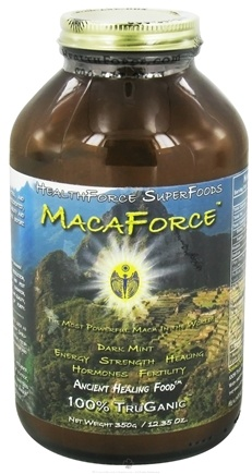 DROPPED: HealthForce Nutritionals - MacaForce Ancient Healing Food Dark Mint - 350 Grams CLEARANCE PRICED