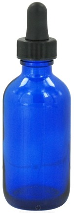 Zoom View - Cobalt Blue Glass Bottle with Dropper