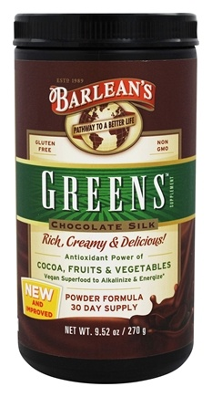 Barlean's - Greens Chocolate Silk - 9.52 oz.