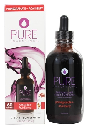 DROPPED: Pure Inventions - Antioxidant Fruit Extracts Liquid Dropper Pomegranate + Acai Berry - 4 oz.