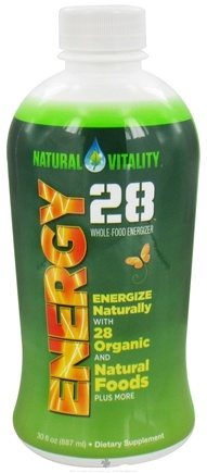 DROPPED: Natural Vitality - Energy 28 Whole Food Energizer - 30 oz.