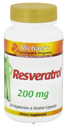 DROPPED: Michael's Naturopathic Programs - Resveratrol 200 mg. - 30 Vegetarian Capsules CLEARANCE PRICED