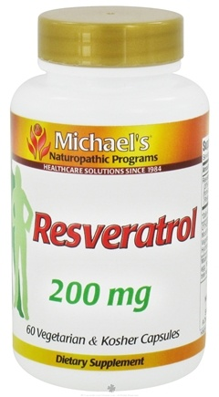 DROPPED: Michael's Naturopathic Programs - Resveratrol 200 mg. - 60 Vegetarian Capsules CLEARANCE PRICED