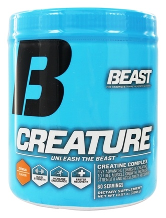 DROPPED: Beast Sports Nutrition - Creature Professional Strength Creatine Blend Citrus 60 Servings - 300 Grams